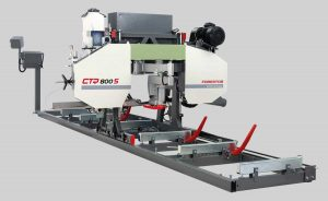 Horizontal electric log band saws