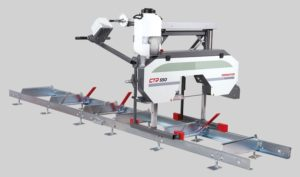 Manual horizontal log band saws