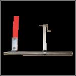 Morsetto materiale con quadrato variabile